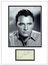 Richard Burton Autograph Signed Display
